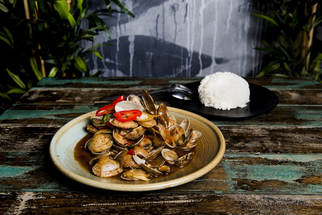The Ginger Tiger Stir-Fry Clams with Chilli Jam